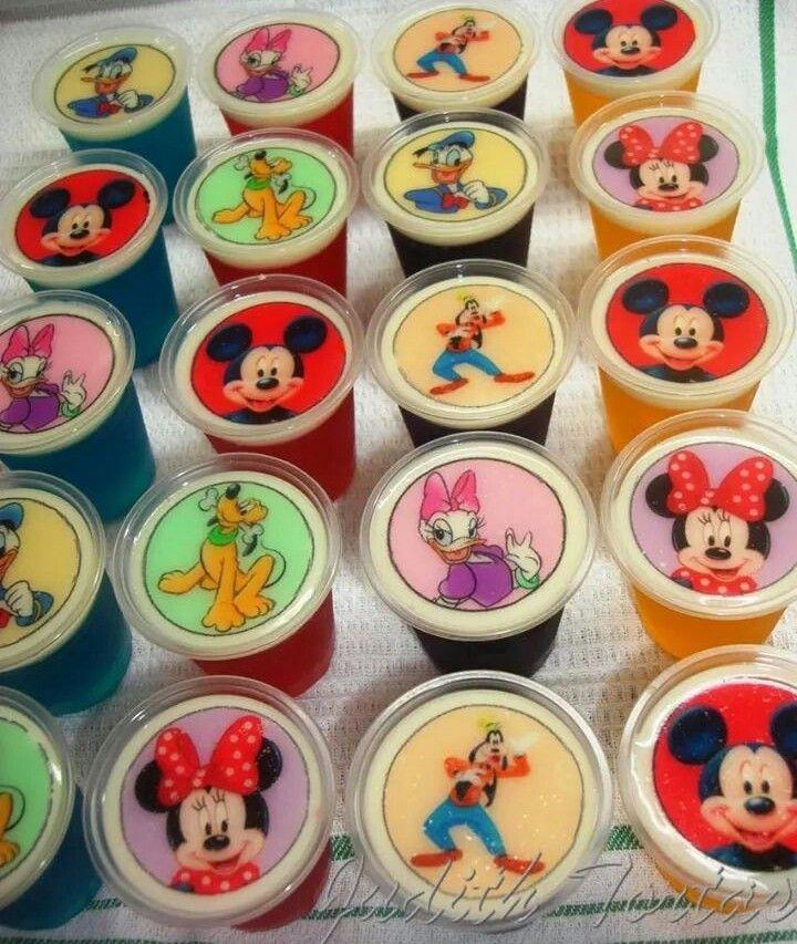 """Gelatinas en vasitos de 3 onz Personajes de"""" La casa de Mickey Mouse"""""""