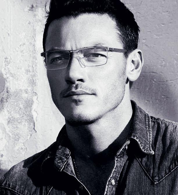 Just Luke Evans looking hot in eyeglasses.