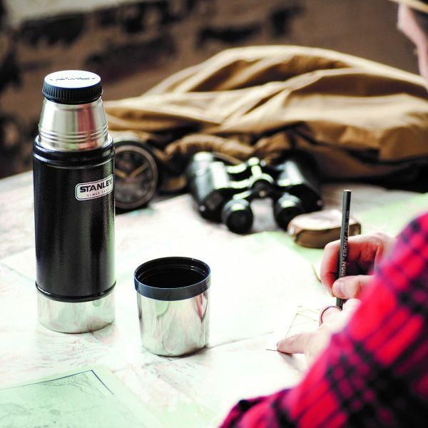 STANLEY  |  Classic 473ML Vacuum Flask - Hammertone Navy