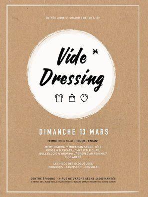 vide-dressing, affiche, nantes, bullelodie http://www.bullelodie.com/2016/03/potins-187.html