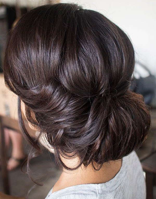 Gorgeous Brunette Inverted Bun