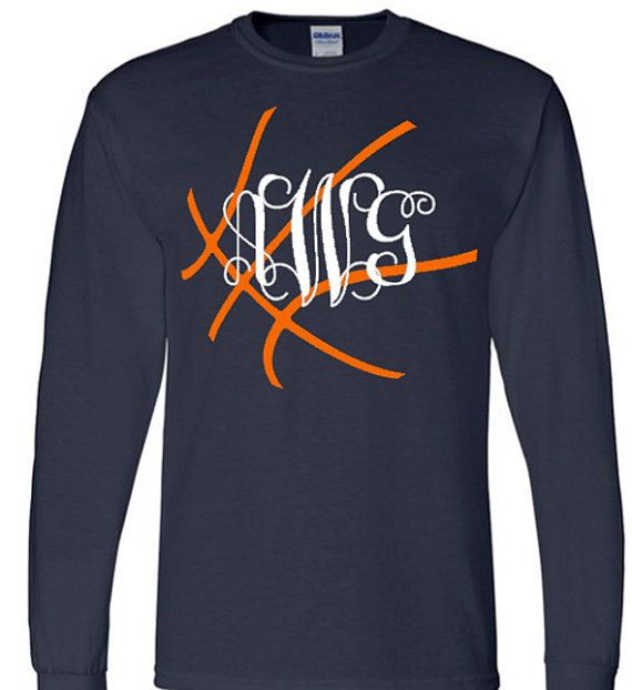 Basketball Mom Long Sleeve Shirt Monogram by VinylDezignz on Etsy