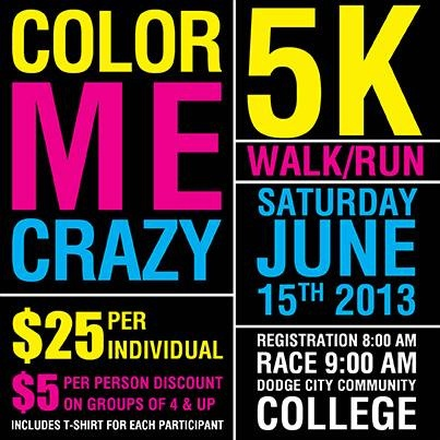 dodge city community college color me crazy 5k run walk held on. Cars Review. Best American Auto & Cars Review