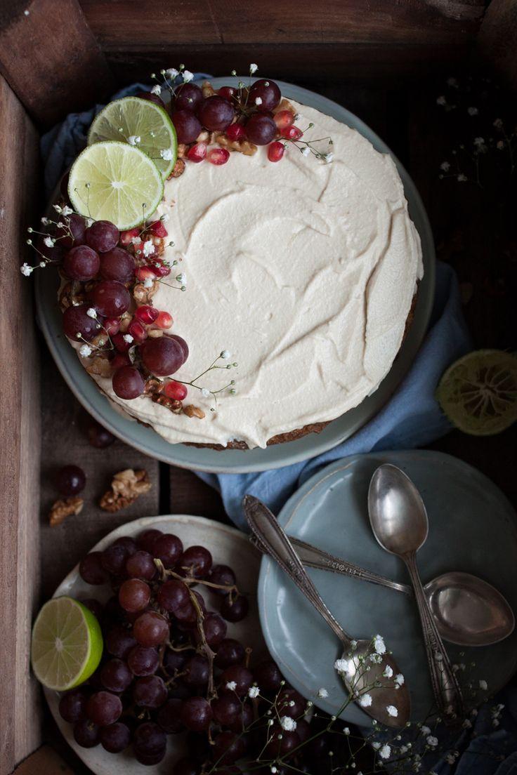 Rustic Vegan Carrot Cake | The Little Plantation