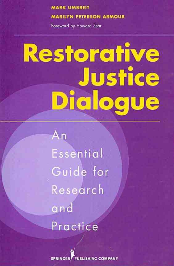 restorative justice research paper This applied research paper examines restorative justice for sexual assault from the perspective of survivors a large international literature promotes restorative justice options as satisfying and empowering to crime victims.