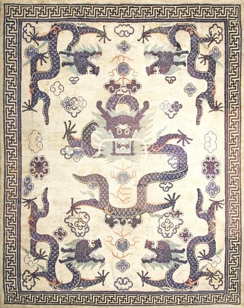 218 Mongolian Carpet 9 8 X 12 0 Circa 1880 Patterns