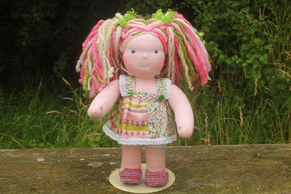 Custom made Waldorf inspired doll for Jessica Bie by loubee dolls