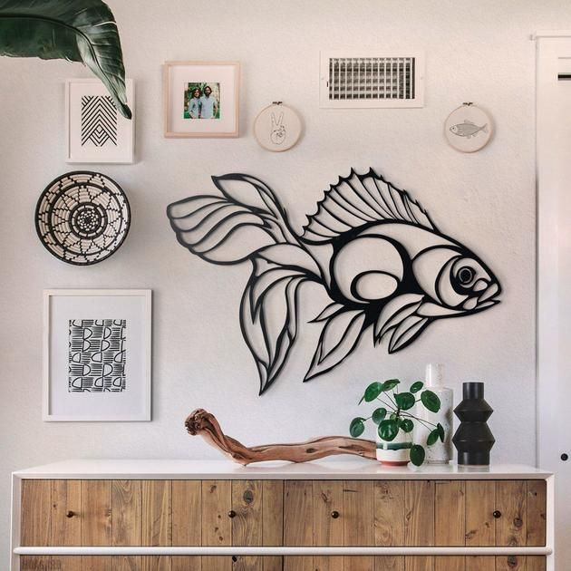 Decorate Your Walls With Nautical Wall Decors Fish Metal Wall Art