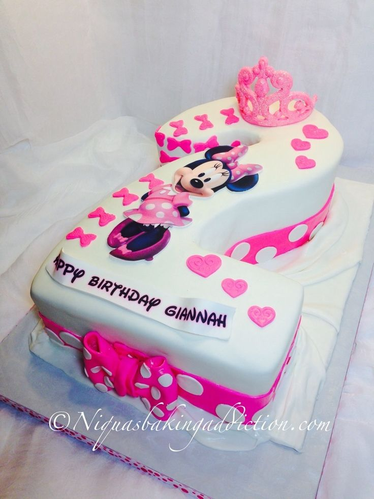 Minnie Mouse Number 2 Cake Oh Twodles Birthday Party