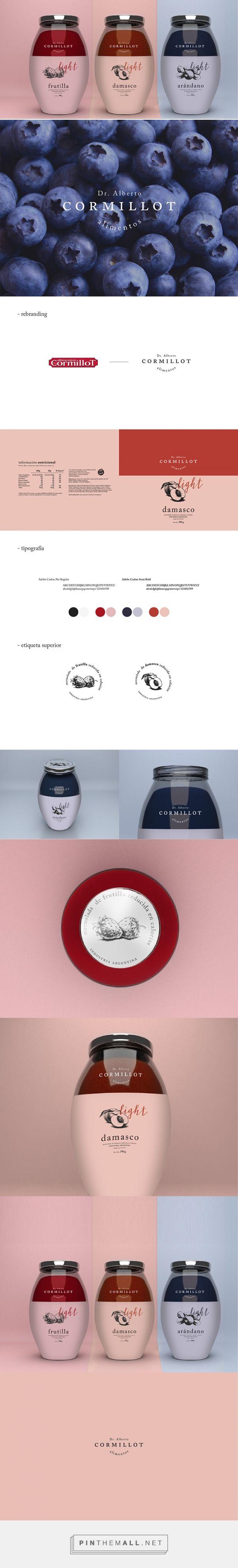 Rebranding Dr. Alberto Cormillot jam by Carmen Alicia González Figueroa. Source: Daily Package Design Inspiration. #SFields99 #packaging #design #inspiration #rebrand #jar #label #jam #preserves