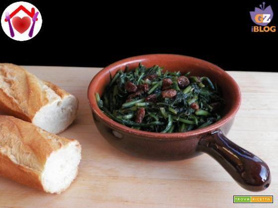 Cicoria con uvetta  #ricette #food #recipes