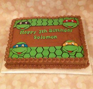 7th Birthday Cake for Boy Teenage Mutant Ninja Turtles
