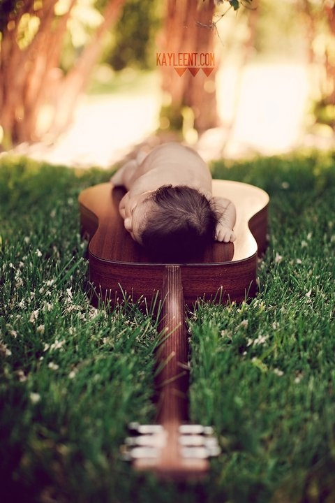 so sweet: Photos, Photography Newborn, Baby Pose, Babies, Sweet, Guitar, Baby Pictures, Baby Photo, Picture Ideas