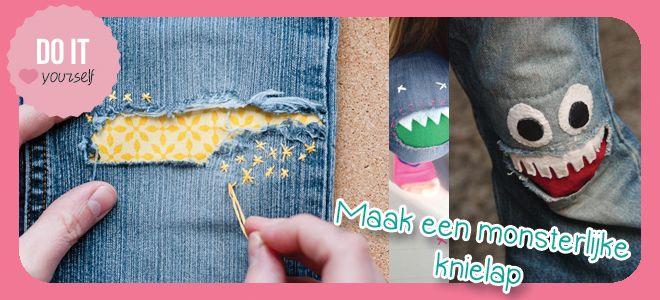 Repareer de knieën van kapotte spijkerbroeken - Love2BeMama