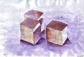 Once again, simple objects have been described distinctly with the minimal use of line work and maximum shading/shadowing.
