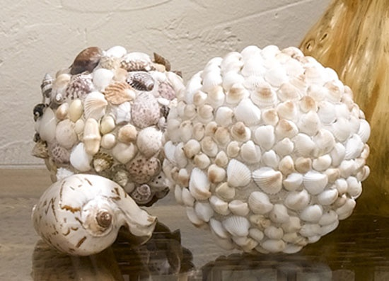 foam ball with shells glued to it:)