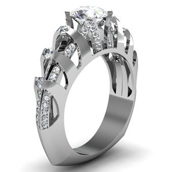 Brides: Unique Engagement Ring Settings | Know this is a STAND OUT ring!! Love, love, love..
