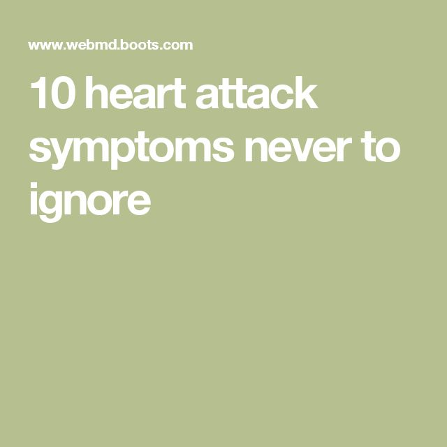 10 heart attack symptoms never to ignore