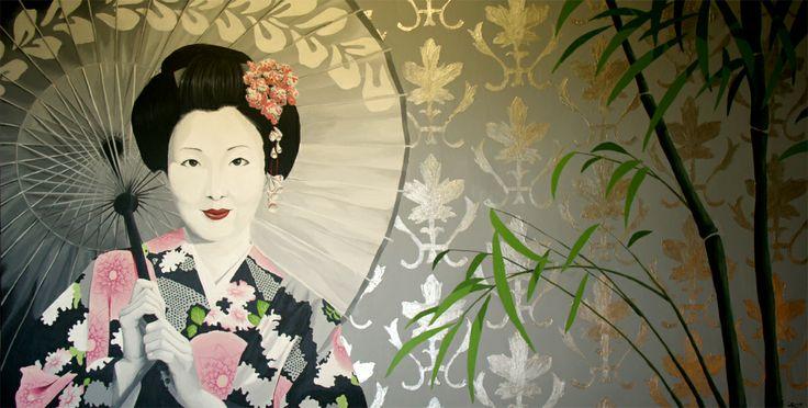 """""""Gheisa"""" cuadro realizado con acrílico sobre lienzo, más trabajos en:  http://murea.es/cuadros/"""