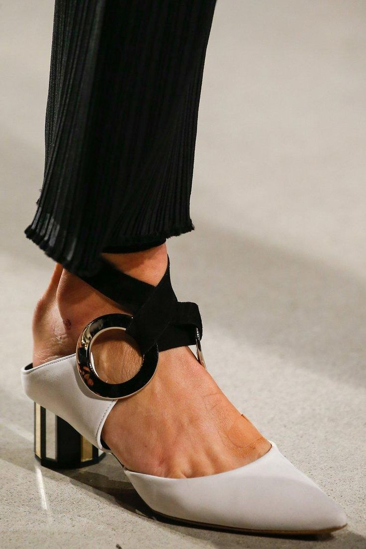 Proenza Schouler's spring shoe silhouette ties together elegance,  modernity, sophistication, and femininity