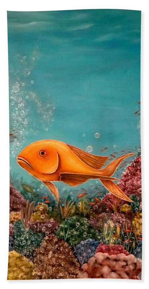 Hand Towel,  home,accessories,bathroom,unique,fancy,cool,trendy,artistic,beautiful,awesome,modern,fashionable,for,sale,decor,unusual,design,items,products,ideas,blue,turquoise,fish,ocean,corrals,bubbles,underwater