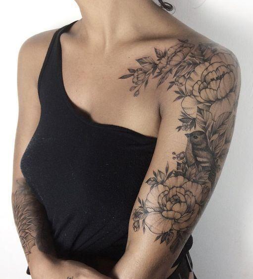 süße Tattoo-Idee für deine Schulter #deine #schulter #tattoo #tattoos – Flower Tattoo Designs