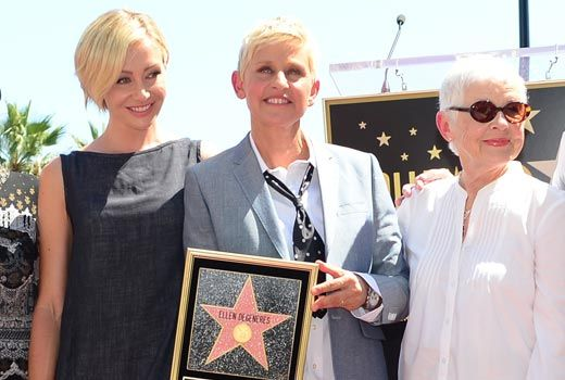 #EllenDeGeneres gets #Hollywood Walk of Fame star