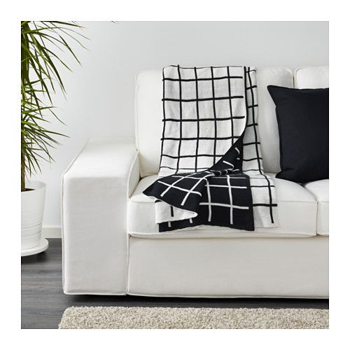 ALMALIE Throw IKEA The thick, heavy and densely-knitted throw in cotton is comfortably warm when you feel cold. 100% cotton