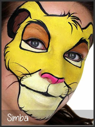 simba face painting by mimicks