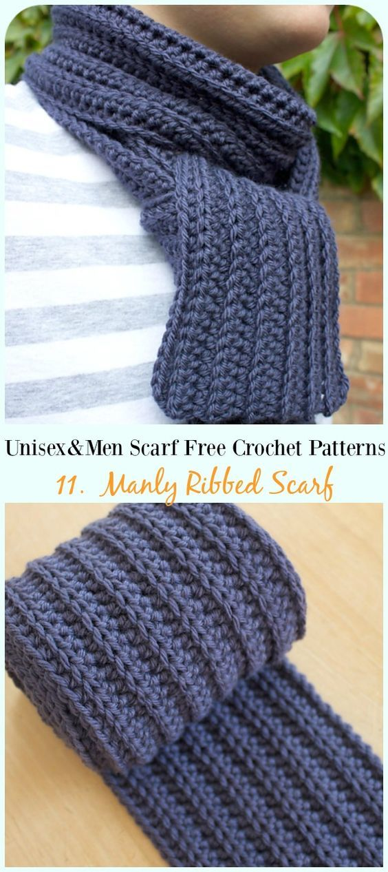 Unisex Men Scarf Free Crochet Patterns Crochet Things Men