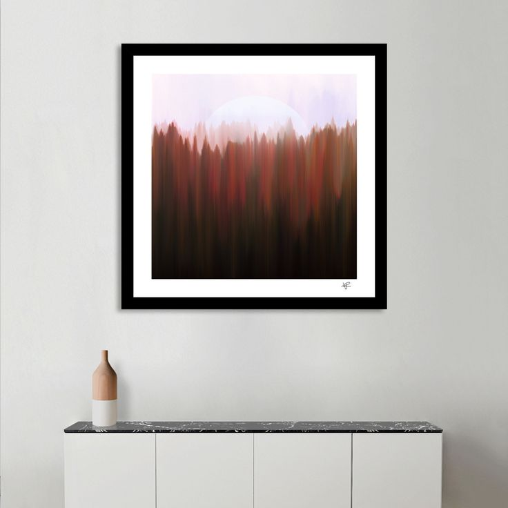 «Forest Moon», Numbered Edition Fine Art Print by Okti W. - From $20 - Curioos