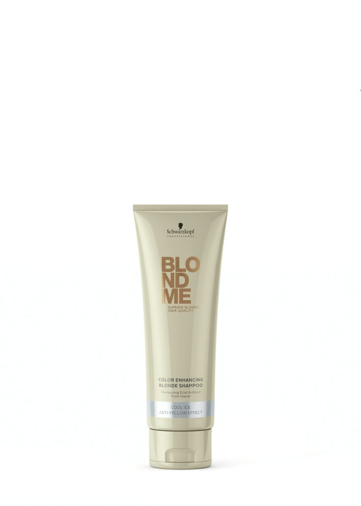 Schwarzkopf Professional Blond Me Color Enhancing Blonde Shampoo Cool-Ice Anti-Yellow Effect 250ml.