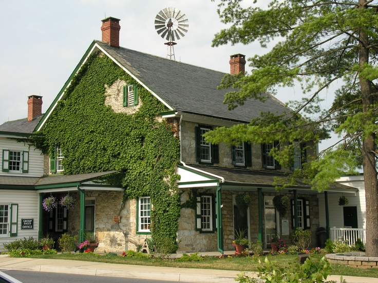 The 1805 farmhouse at the Amish Farm and House in Lancaster, PA