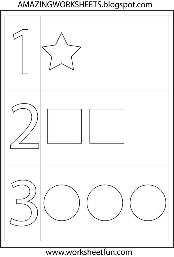 Worksheet For Kindergarten Number 1 Numbers Preschool Preschool Worksheets Preschool Math Worksheets