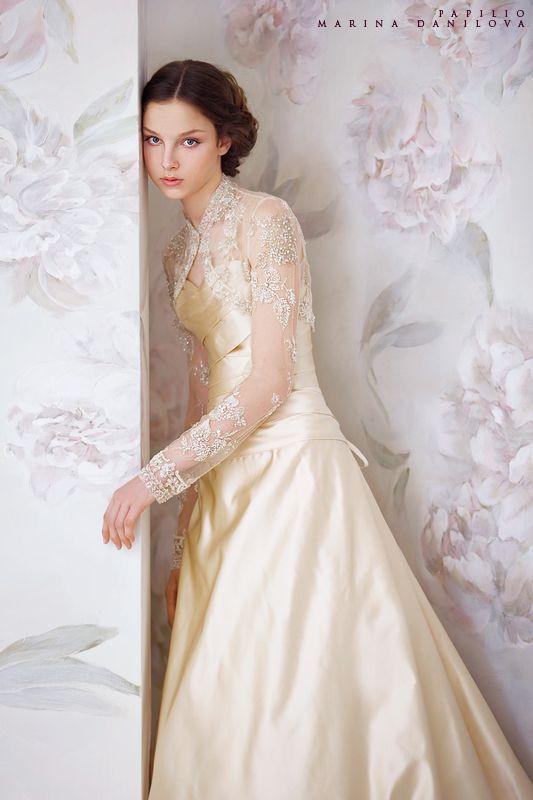 Love this gold wedding dress!