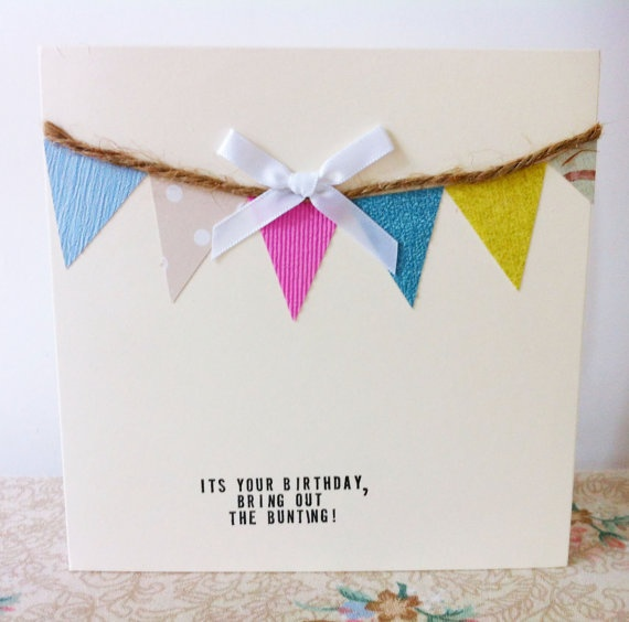 BRAND NEW! Birthday Bunting cards at STUDIONO44.COM