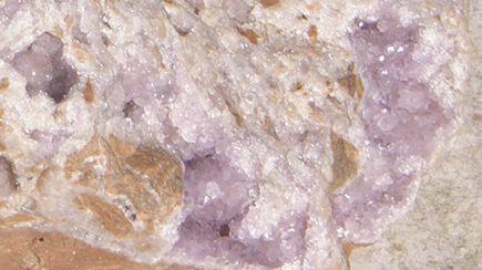 Detail, Amethyst Quartz crystal druzy from Lake Superior