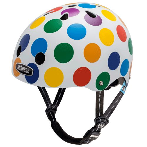 Nutcase Helmet - Little Nutty Dots Generation 3 Our littlest nutcase is getting a big girl bike for Christmas and this dotty number would be perfect for protecting her precious little noggin'