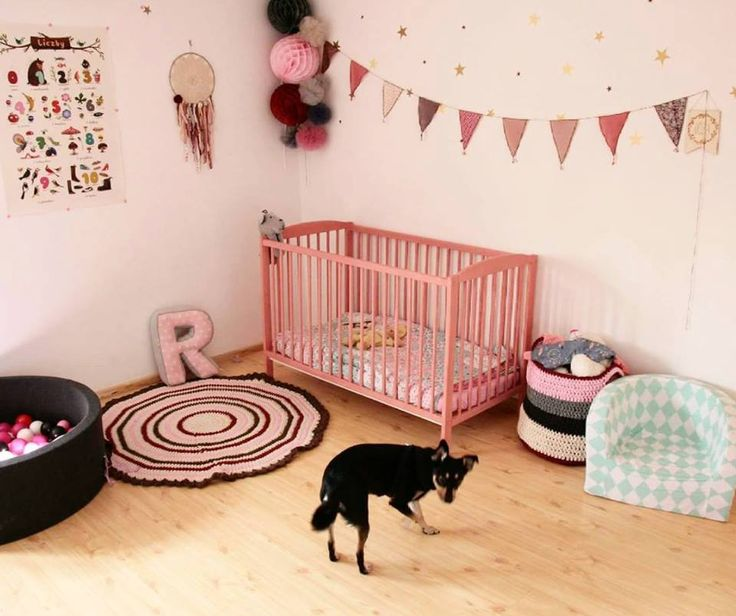 Izabela Sierżęga, a Polish decorator, painted her baby's cot with Chalk Paint® by Annie Sloan in Scandinavian Pink.