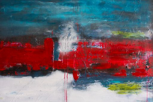 Breaking Through by Brenda Miller. Ottawa artist, Canadian artist, abstract artist.