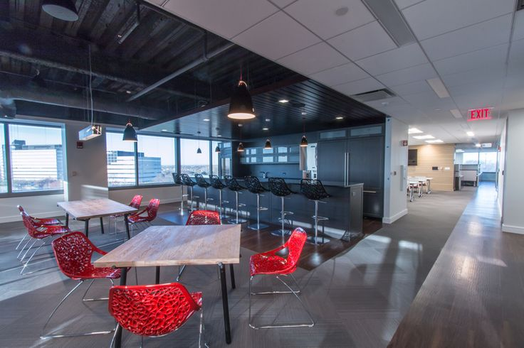 This Modern Commercial Interior Break Room Design By
