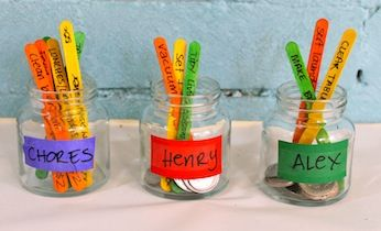 Easy Chore Jar Chore Chart System | Kids Charts | Craft Activities