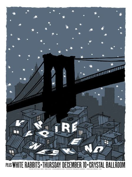 Vampire Weekend concert poster by Mike King