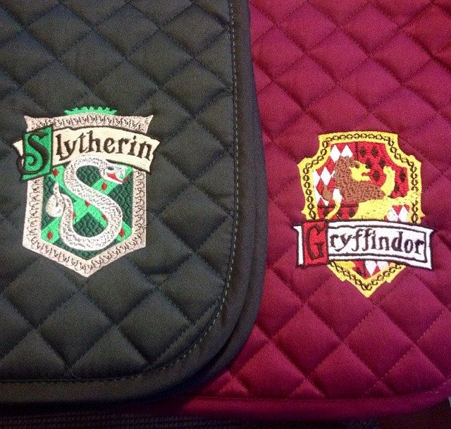 Harry Potter House Crest Embroidered Saddle by TheHoundstoothHorse