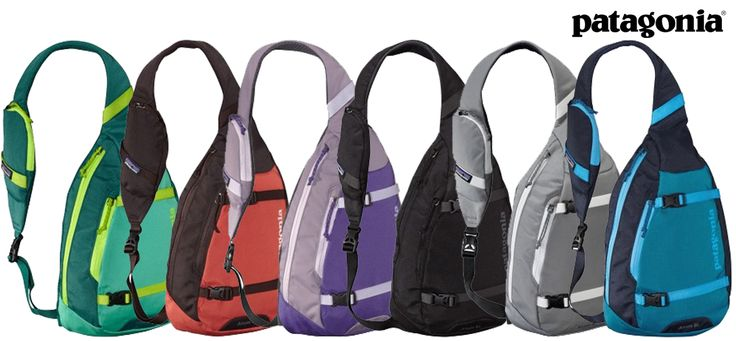 The Patagonia Atom Sling carries your daily load with all the comfort of a backpack, the convenience of a shoulder bag and the ergonomic, low-profile performance of a courier's tote.
