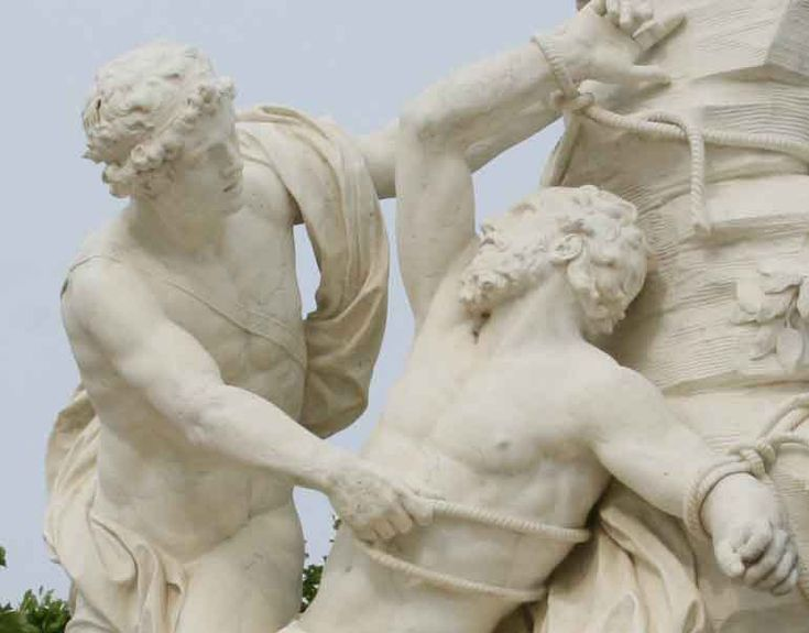 Aristaeus And Proteus Sculpted 1688 1714 Portrays The