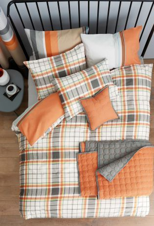Buy 2 Pack Orange Check And Stripe Bed Set online today at Next: Rep. of Ireland