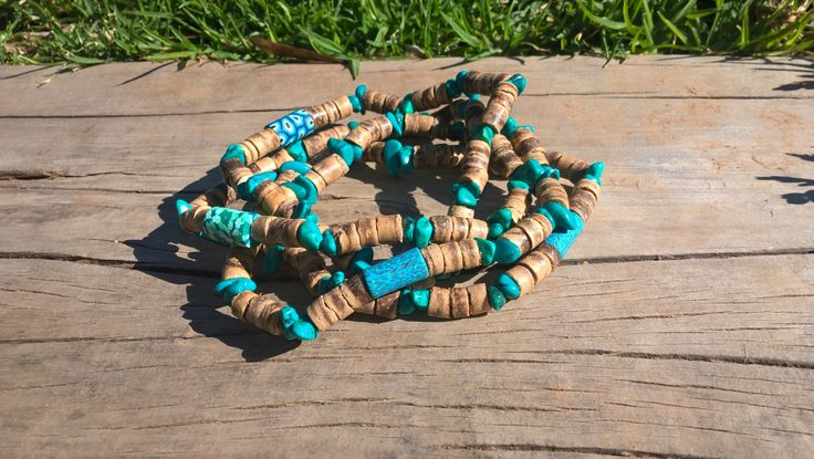 Coconut shell bracelet, Surfer Bracelet, Anklet, Chaine de cheville, Natural…