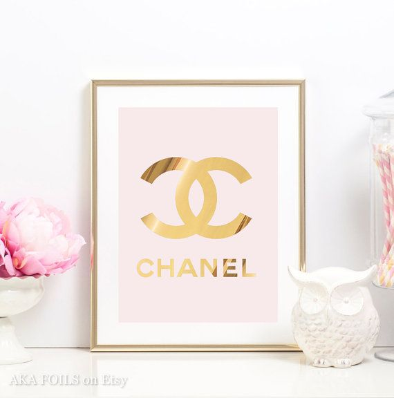 Coco Chanel Poster Real Gold Foil Chanel Print Coco Chanel