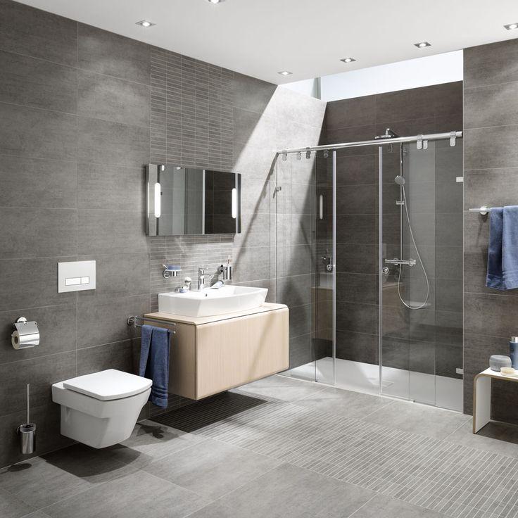 24 besten Ideen Badezimmer Bilder auf Pinterest | Bad fliesen ... | {Badezimmer fliesen ideen grau 45}